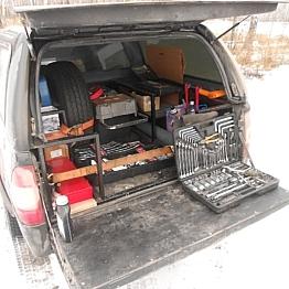 Оборудование сервисного автомобиля ПИКАП